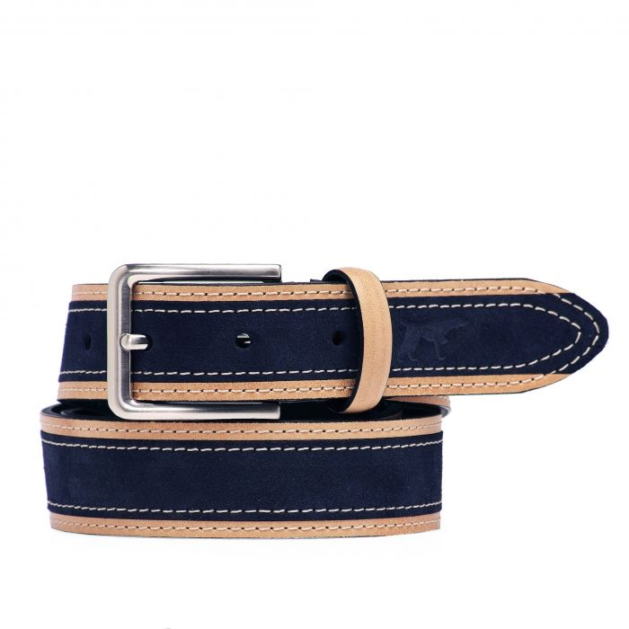 Image for Navy leather belt