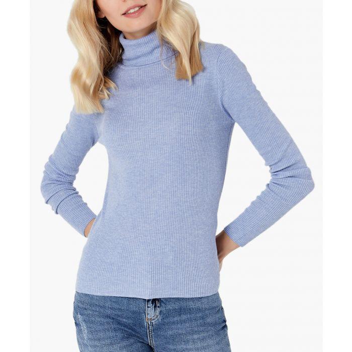 Image for Blue merino wool blend pullover