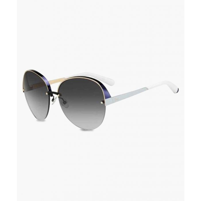 Image for White and grey oversized sunglasses