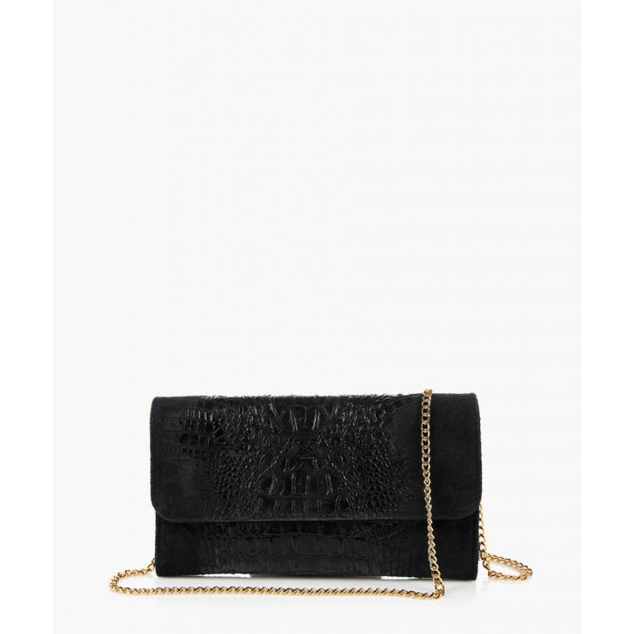 Image for Chiese black leather clutch