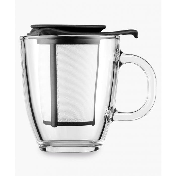 Image for Black mug and tea strainer 0.35L