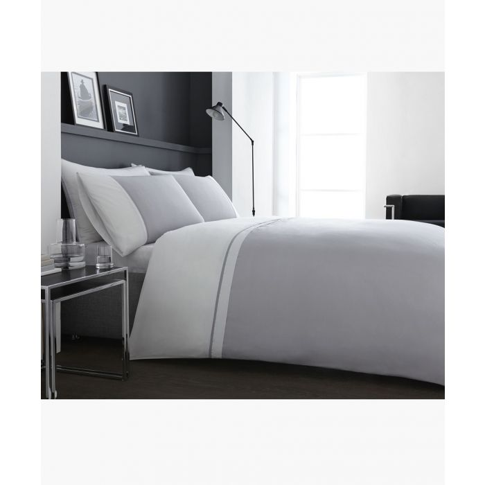 Image for Sorrento white cotton double duvet set
