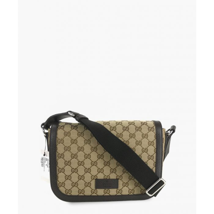 Image for Beige GG canvas and leather crossbody