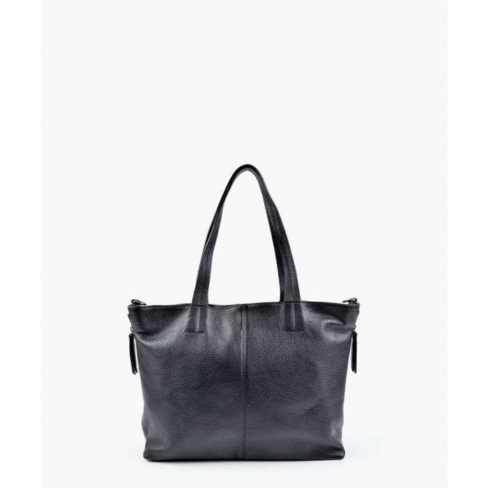 Image for Black leather tote