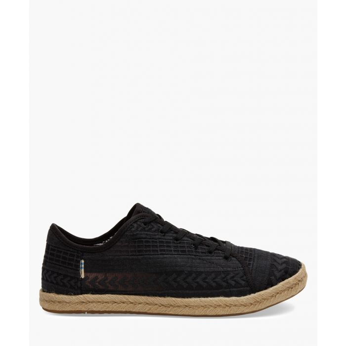 Image for Lena black canvas shoes