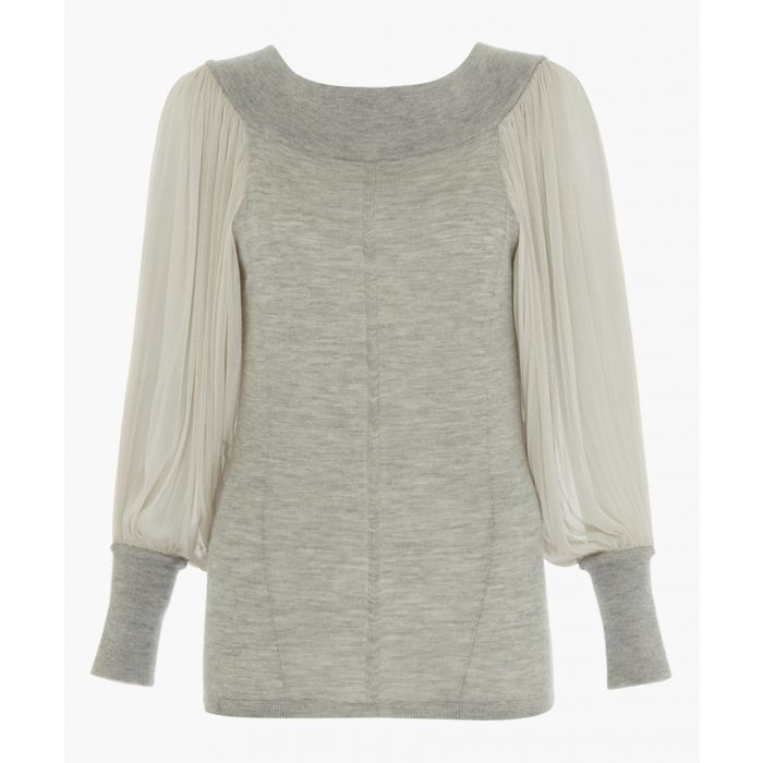 Image for Grey pure chasmere top