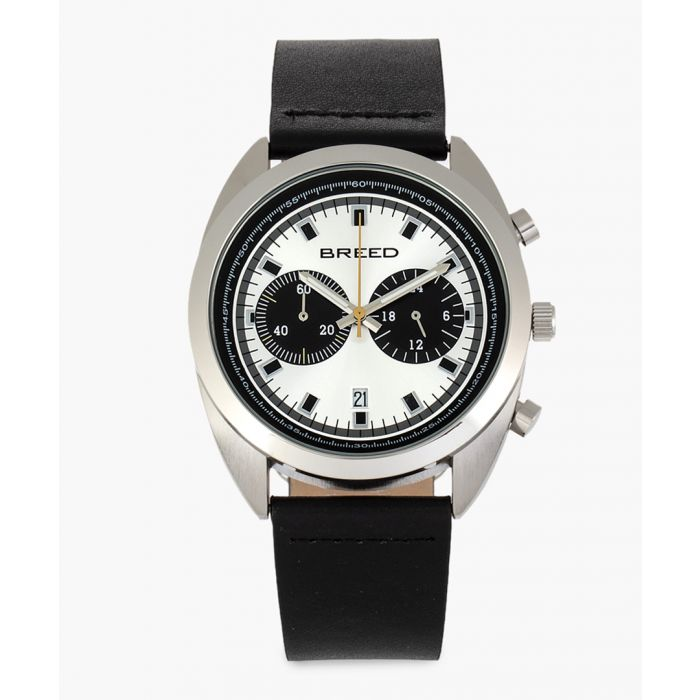 Image for Racer leather chronograph watch