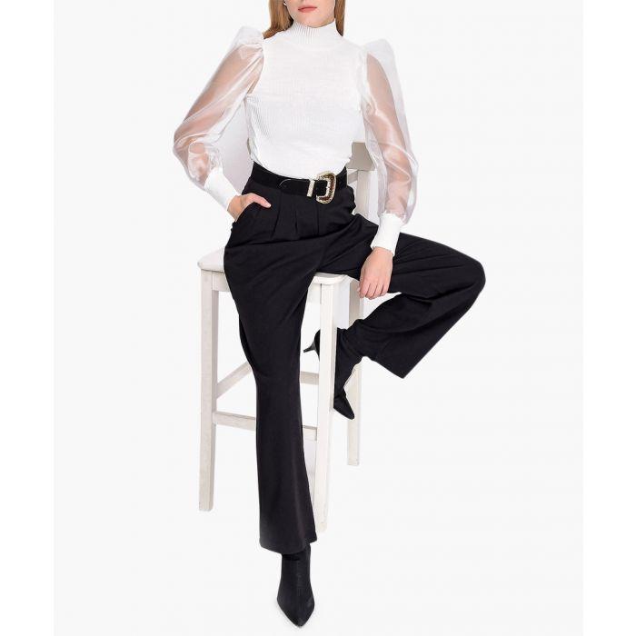 Image for White pure cotton jumper