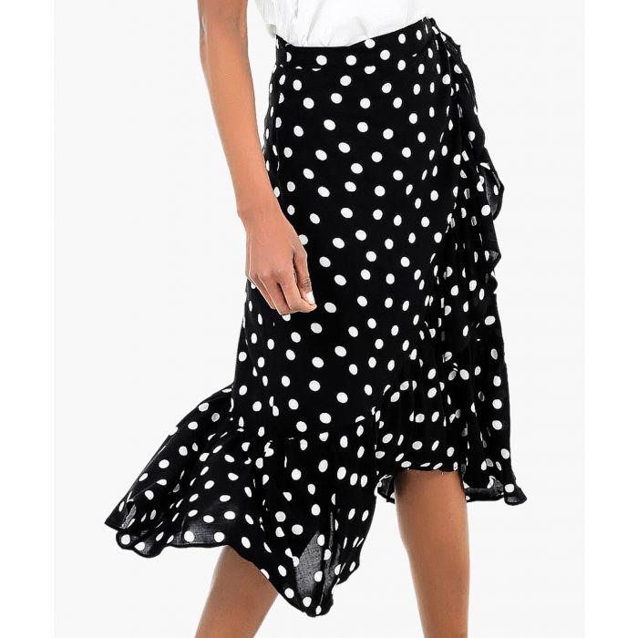 Image for Wrap polka skirt