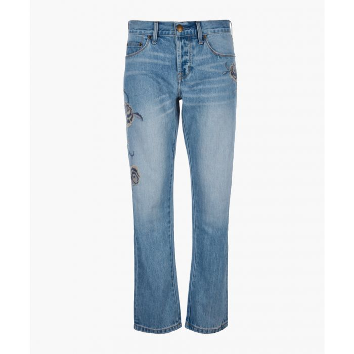 Image for The Crossover pure cotton straight jeans