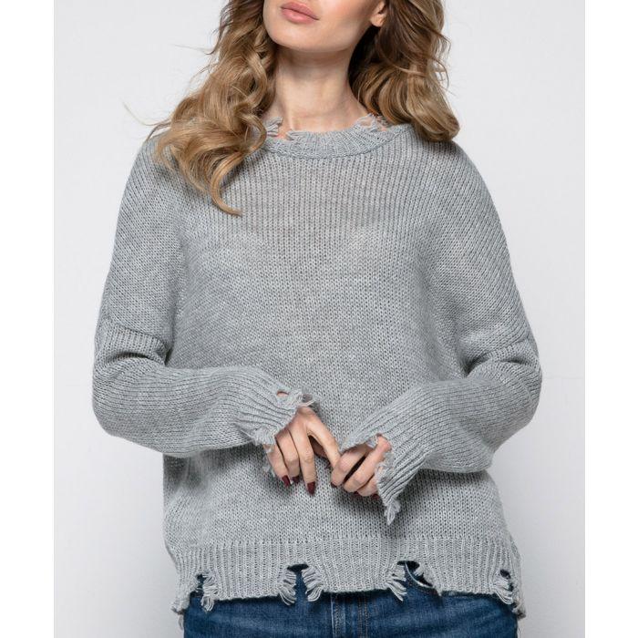 Image for Grey mohair blend jumper
