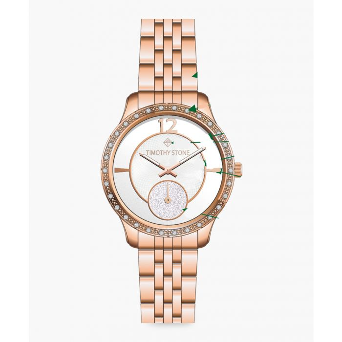 Image for Huston rose gold-tone watch