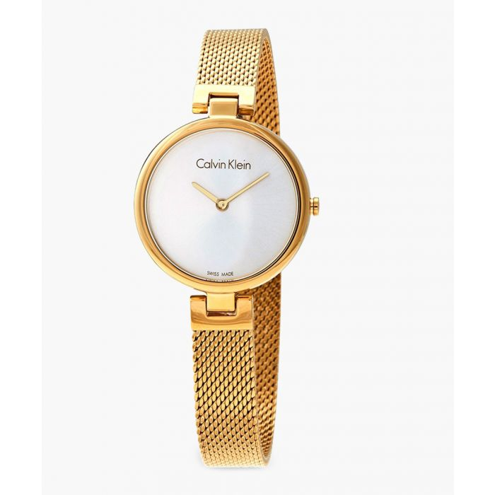 Image for Gold-plated and white watch