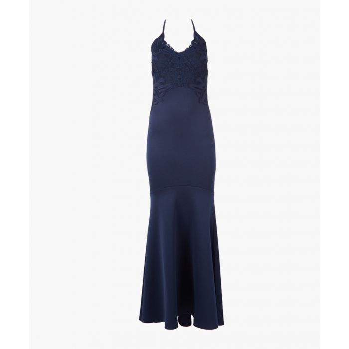Image for Navy heritage maxi dress