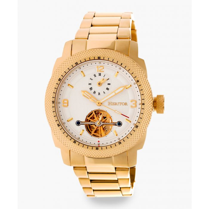 Image for Heritor Automatic Helmsley gold-tone watch