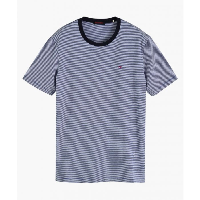 Image for Multi-coloured stretch-cotton classic crew neck T-shirt