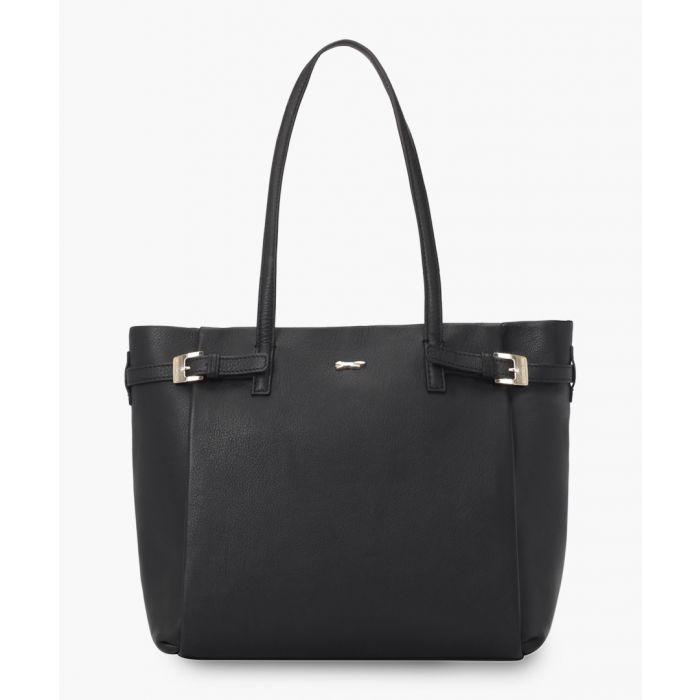 Image for Otranto black leather shopper