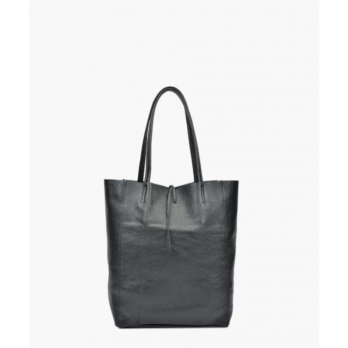 Image for Black leather shopper