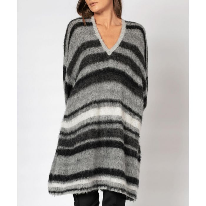 Image for Accent black & white wool blend jumper
