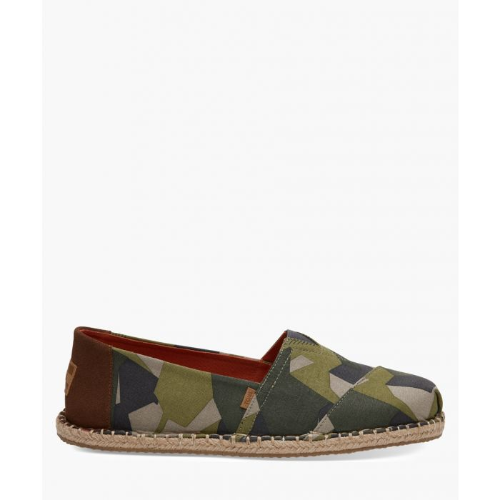 Image for Green canvas espadrilles