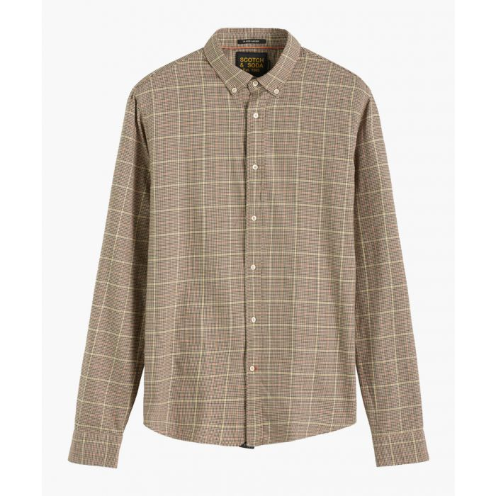 Image for Blue cotton classic check shirt