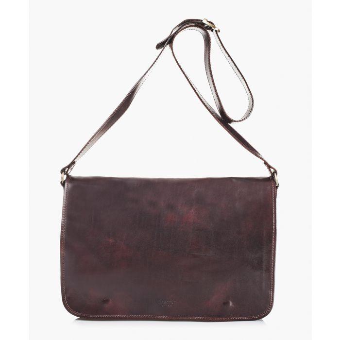 Image for Dark brown leather shoulder bag
