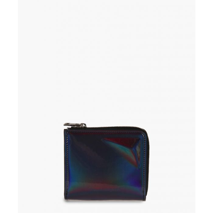 Image for Black holographic zip-up wallet