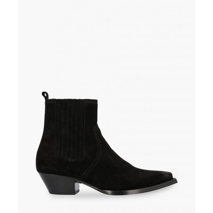 Image for Lukas black suede ankle boots