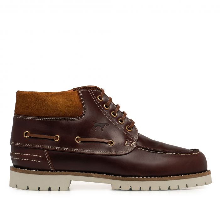 Image for Brown leather winter boots