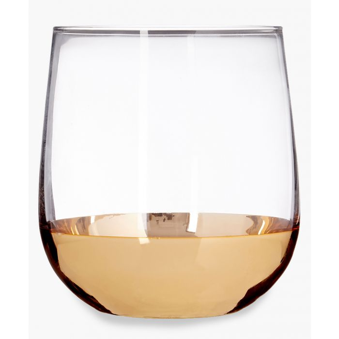 Image for 4pc Horizon gold-tone glass tumblers