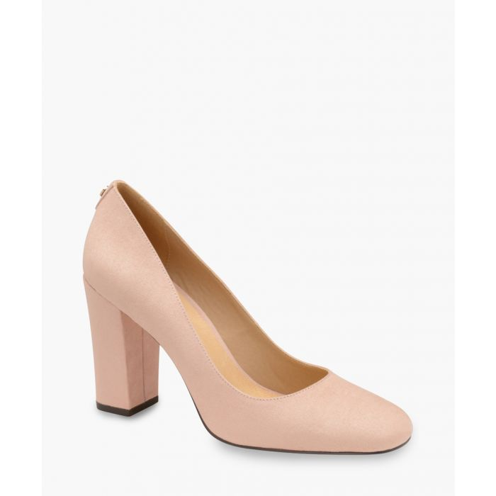 Image for Light pink block heel pumps