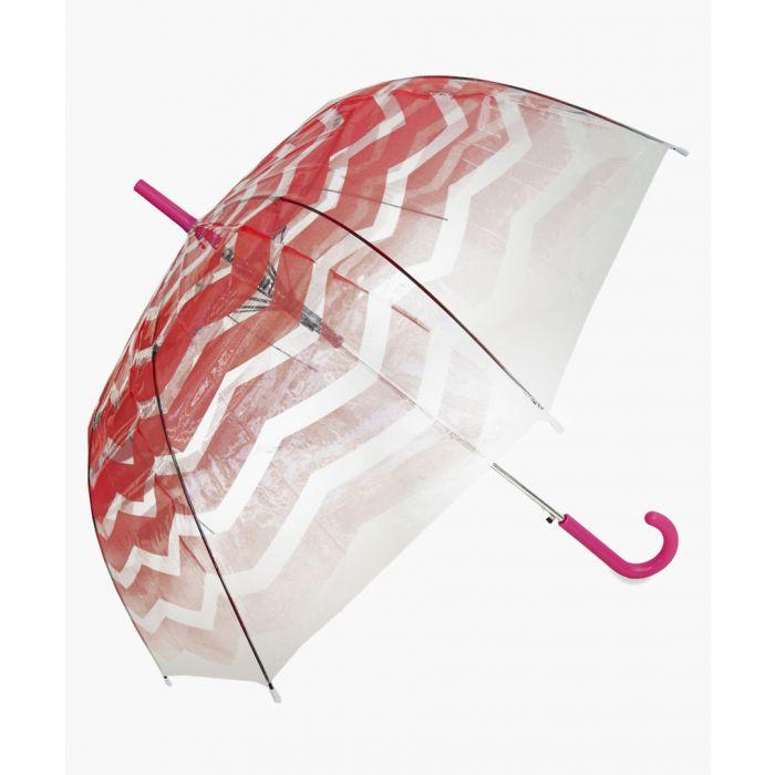Image for Coral chevron printed umbrella