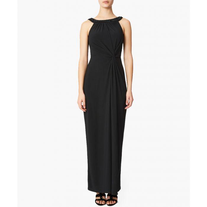 Image for Rose black embellished maxi dress