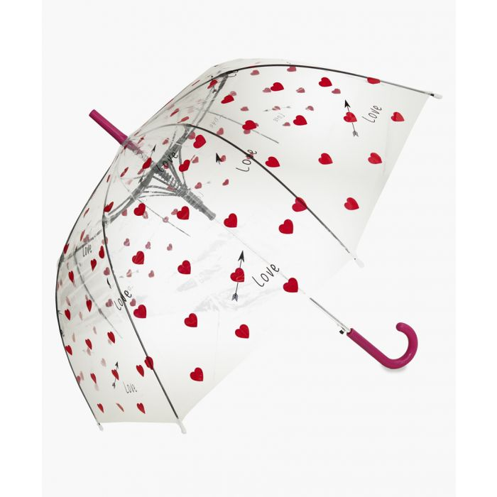 Image for Red heart printed umbrella