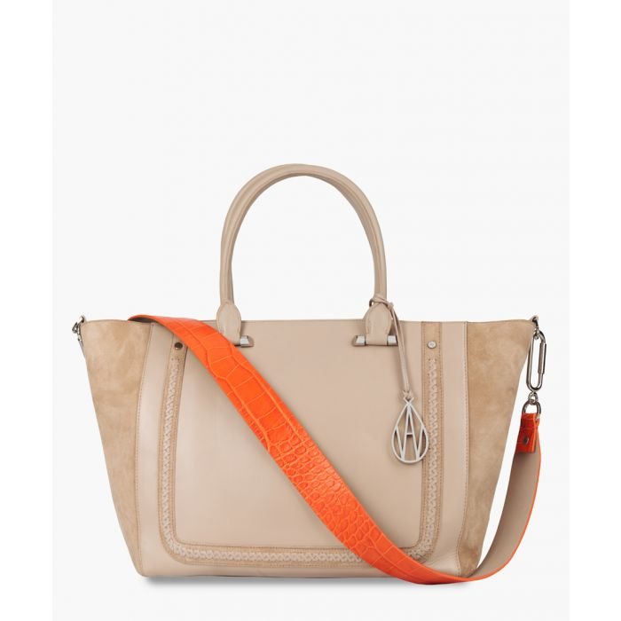 Image for Johansson cream leather tote