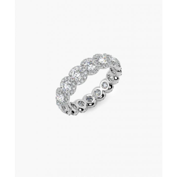 Image for 2.00ct halo diamond eternity ring