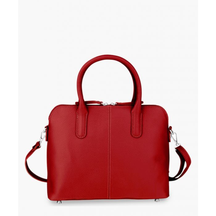 Image for Red leather tote bag