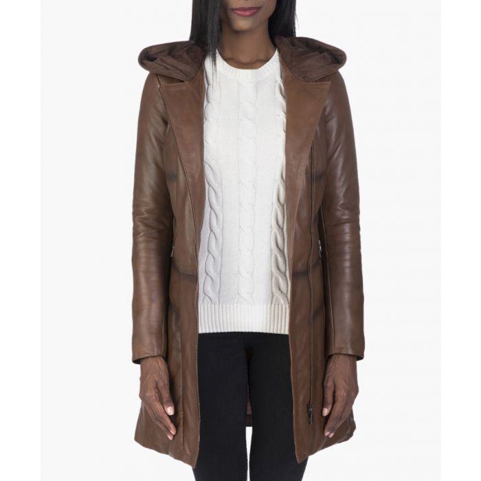 Image for Chestnut leather jacket