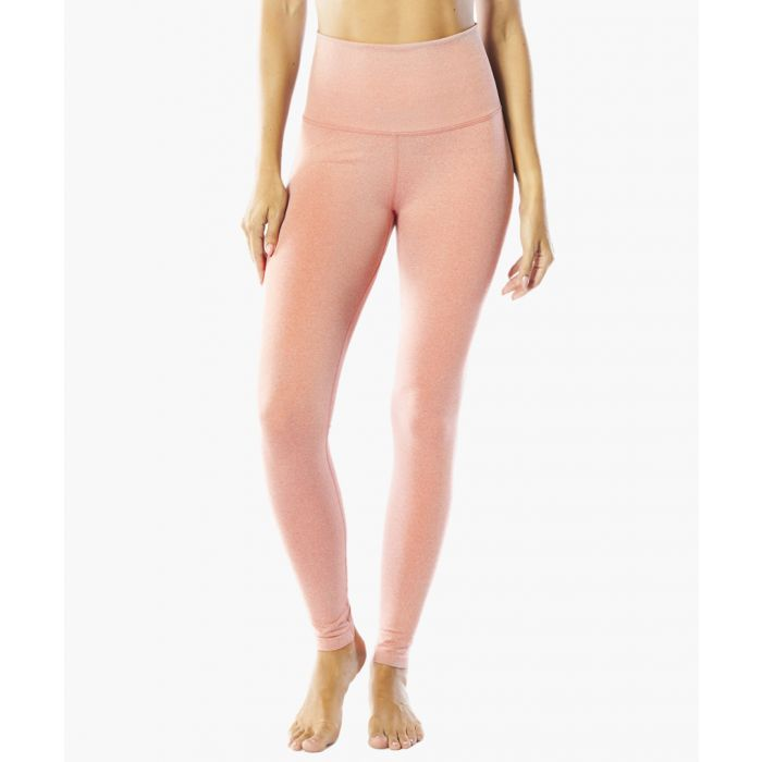 Image for Peach Ribbed Waste Band Legging
