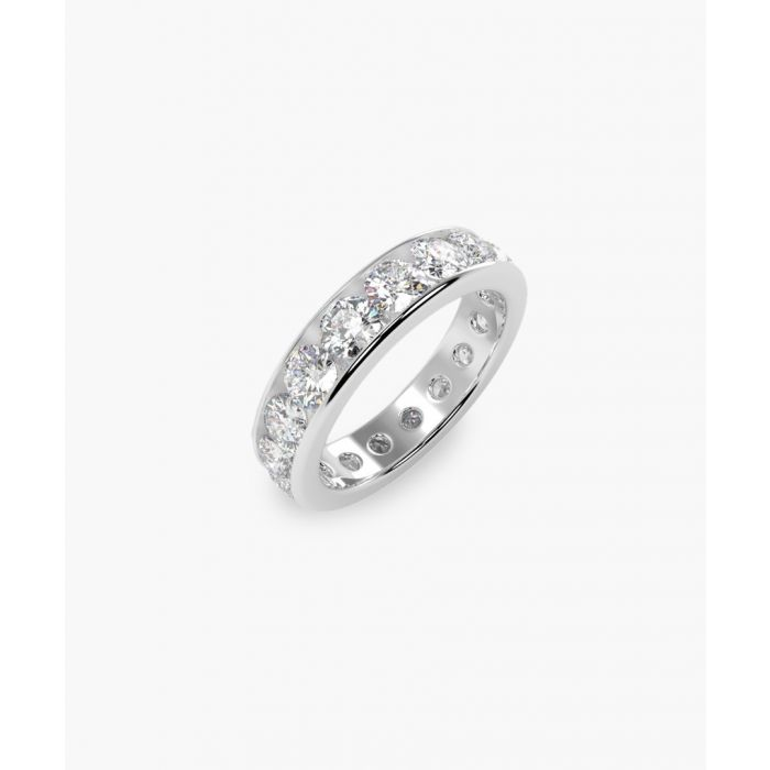 Image for Platinum and 5.00ct round diamond full eternity ring