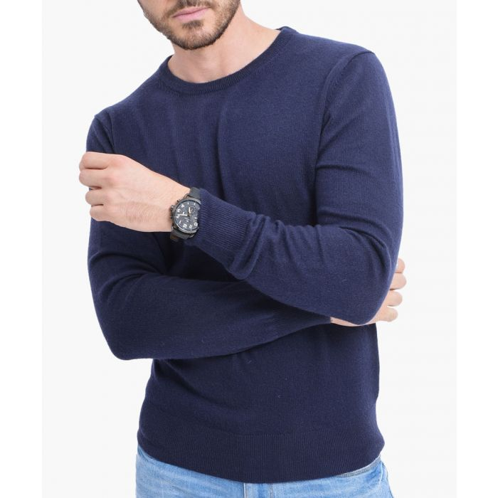 Image for Blue cashmere blend jumper