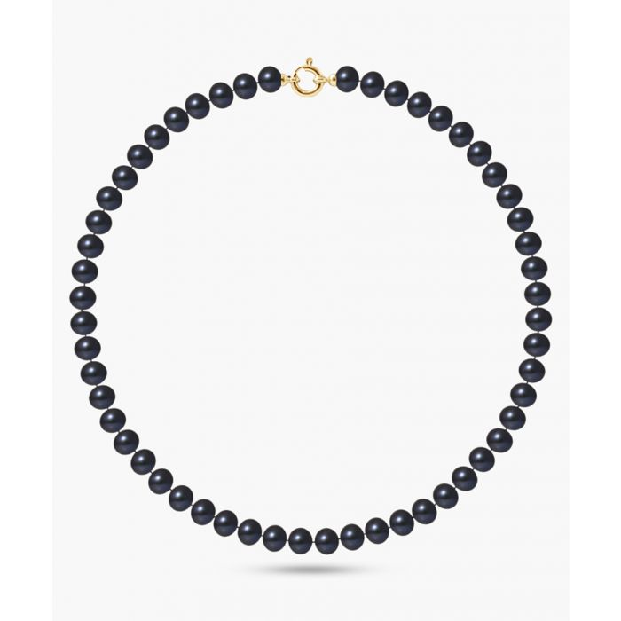 Image for Gold-plated and black pearl necklace