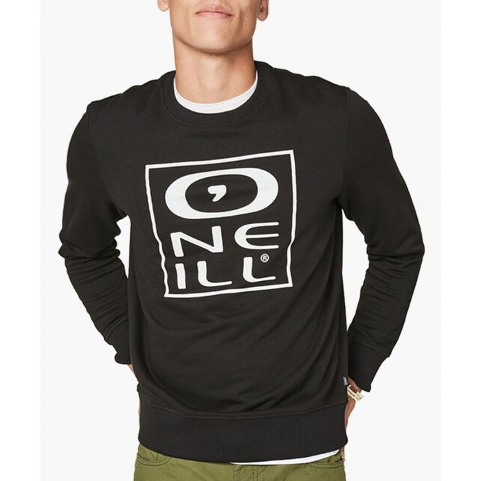 Image for Black cotton blend crew sweatshirt