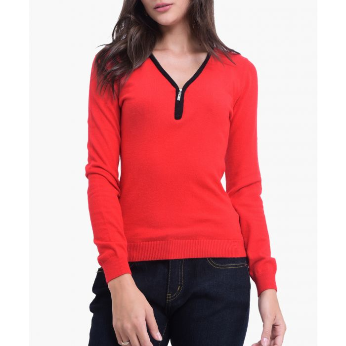 Image for Berry cashmere and silk blend jumper