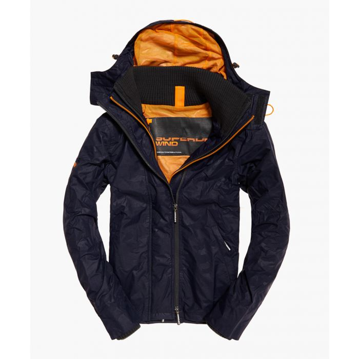 Image for SuperdryHOODED TECHNICAL PRINT POP ZIP WINDCHEAT