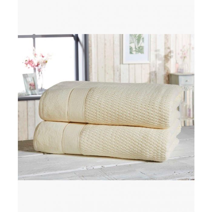 Image for 2pc cream cotton towels