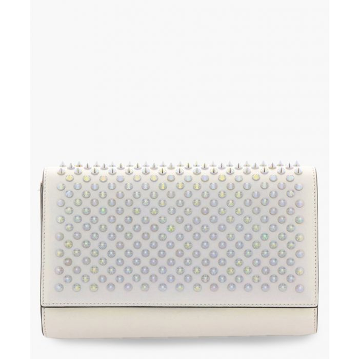 Image for Paloma silver-tone leather clutch