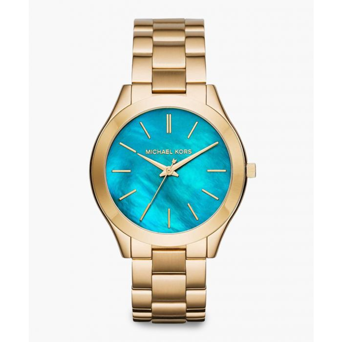 Image for Gold-tone and blue stainless steel watch