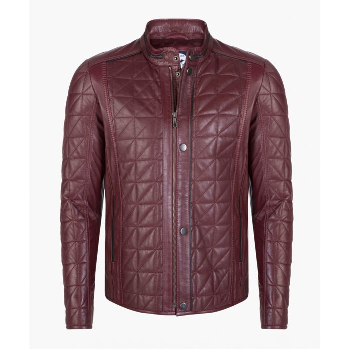 Image for Bordeaux leather jacket