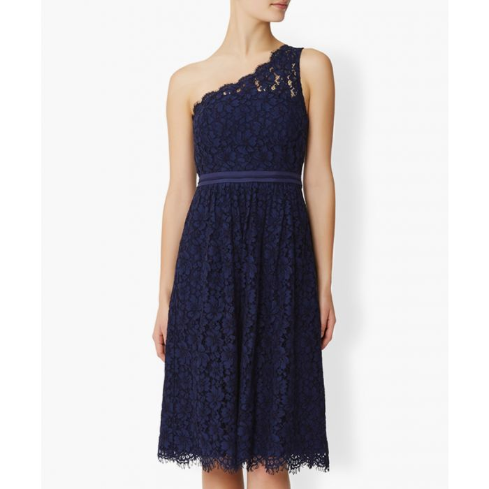 Image for Juniper blue one-shoulder lace dress